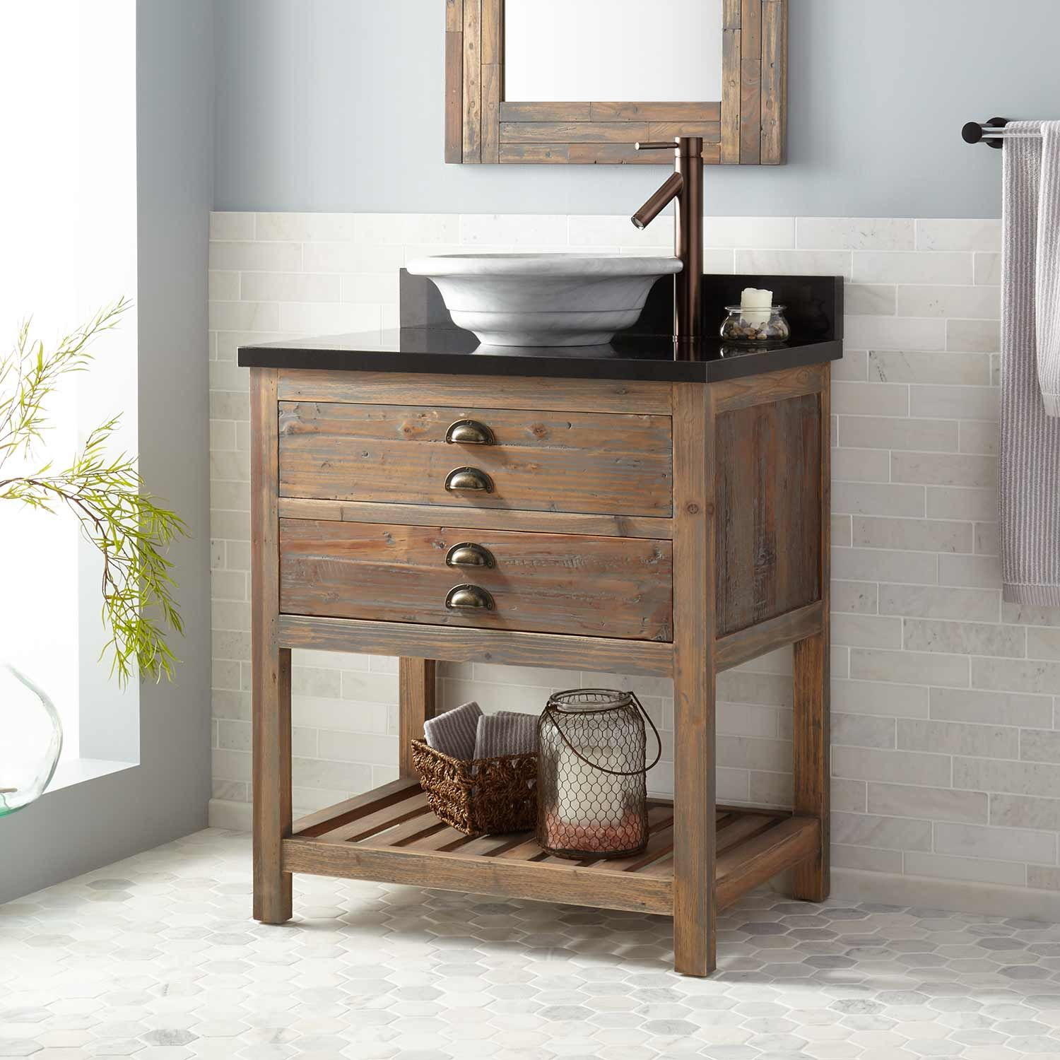 30 Morris Console Vessel Sink Vanity Bathroom Vanities Bathroom Vessel Sink Vanity Bathroom Vanity Wood Console