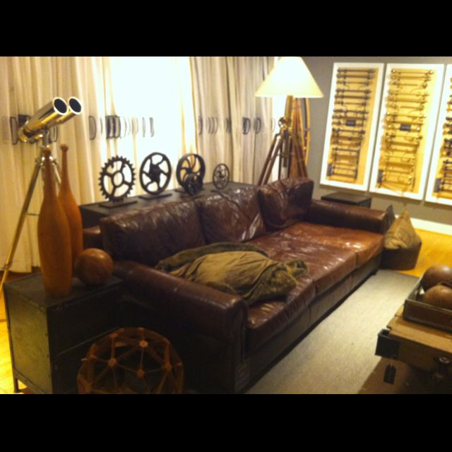 This Is Pretty Close To The Perfect Leather Couch. I Could Live On This For  · Leather CouchesSweet DreamsRestoration HardwareLancasterClose ...