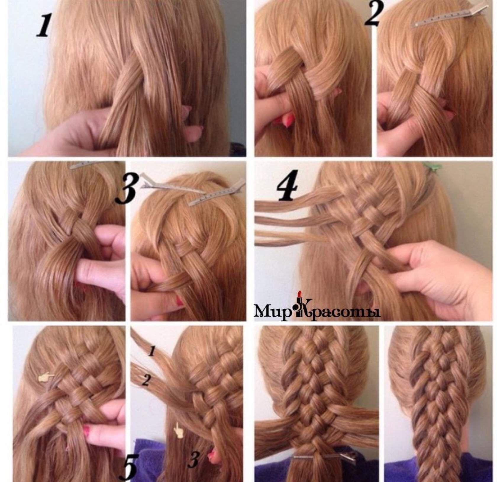 плетение кос картинки по шагам юлия, делала