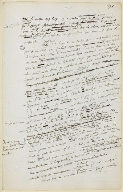 Manuscript for Gustave Flaubert\'s Madame Bovary | ...Laugh, no ...