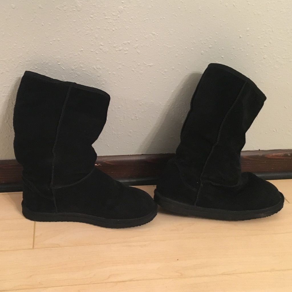 Ugg Inspired Boots/ House Shoes Black | Products