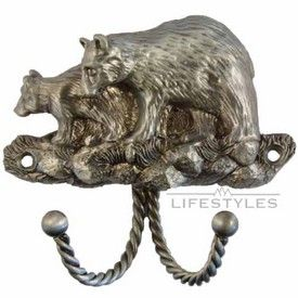 Sierra Lifestyles, Decorative Hook   Black Bear   Antique Brass From Cabinet  Knobs And More