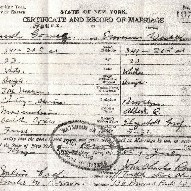 New York Divorce Records: Genealogy Articles : New York Marriage Records