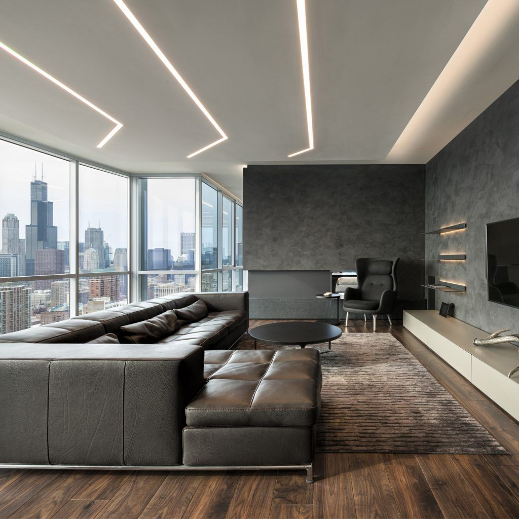 15 Modern Living Room Ideas: What Could Be Cooler Than Architectural Recessed Lighting