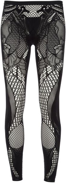 ALEXANDER MCQUEEN Black Lace Legging- Lyst   Legs Have It Going On ... dfffc67f787a