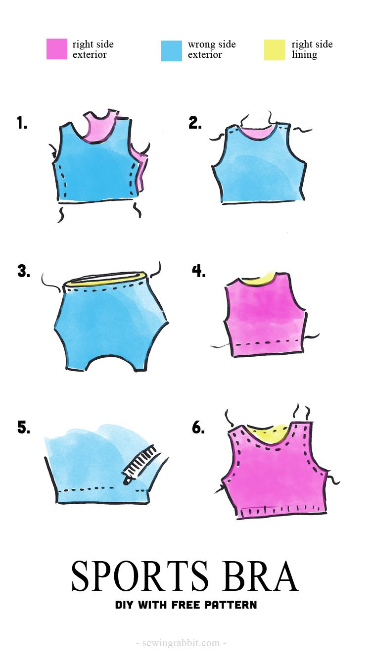 How to sew a sports bra ||  Sports Bra DIY, with free pattern
