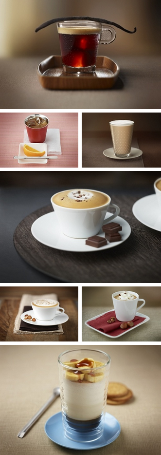 Nespresso Official Recipes! (Part 2)  Soooo… a few weeks ago I told you guys about my new Nespresso Pixie. Well, I've decided to share with you some very UNIQUE and official recipes from Nespresso's official catalogue.   These recipes use the different Nespresso coffee flavored capsules, but if you don't own a Nespresso machine you can still try to make these on your own with similar flavored coffees.   http://thecakebar.tumblr.com/post/62183584596/nespresso-official-recipes-part-ii-part-i