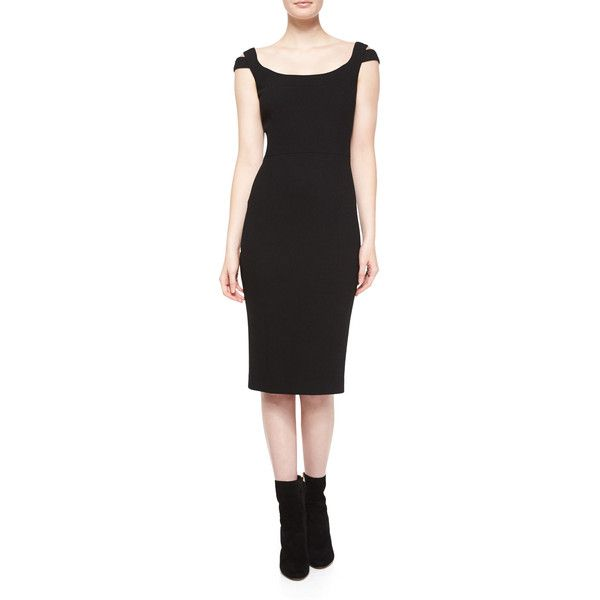 Michael Kors Off-The-Shoulder Sheath Dress ($1,750) ❤ liked on ...