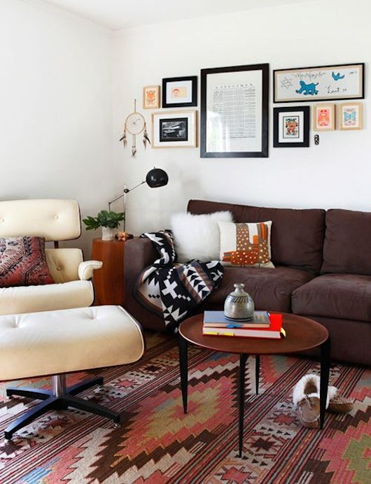 Charmant Eames Lounge Chair | Aztec Print | Tribal Pattern | Flat Woven Rugs | Home  Ideas