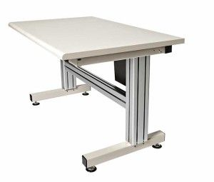 2 Leg Electric Adjustable Height Work Table | Industrial