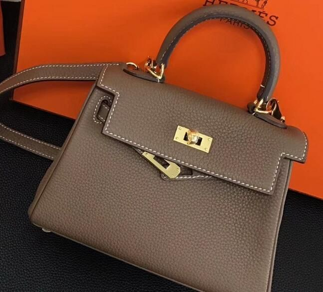 3e4d31c2dfe8 ... 50% off 2018 hermes clemence leather kelly 20cm mini bag etoupe 746fc  4afb1