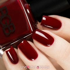 Swatch of RGB Crimson Nail Polish (Core Collection) | Nails and Lips ...