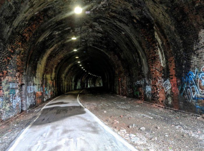 There are instances throughout the years when the tunnel was in use by trains, where at least a couple of men, on separate occasions, were hit by an oncoming train and killed inside the tunnel. #westvirginia
