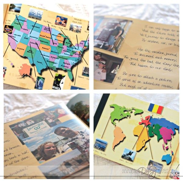 i love this idea for a gift. a book about all the places you will go, where you have been, etc