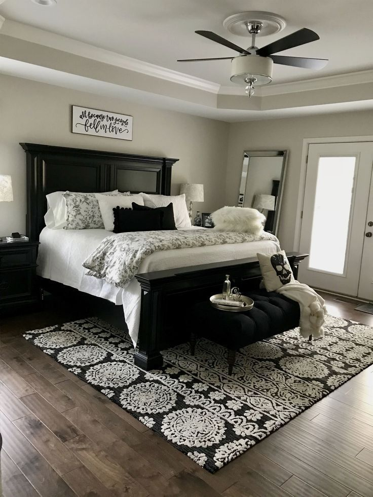 Black and white master bedroom design MasterBedrooms