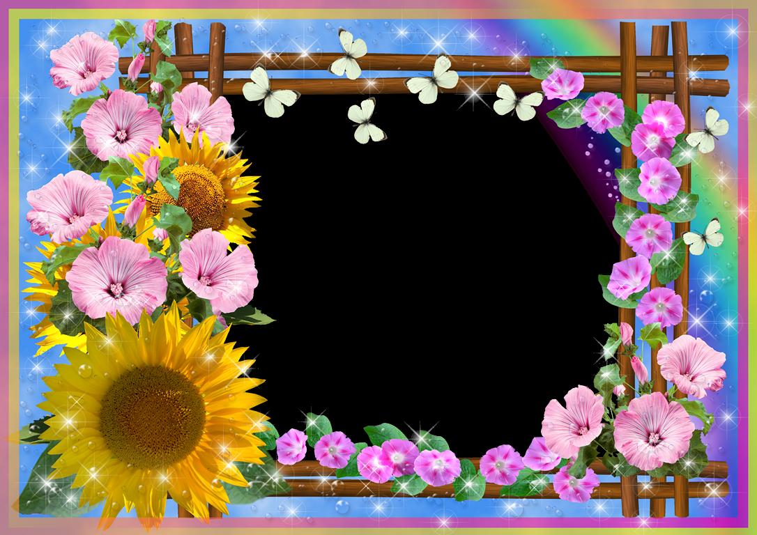 marco de flores con flores   Bordes para fotos   Pinterest