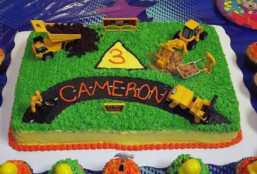 Construction cake construction cake cake birthday cake