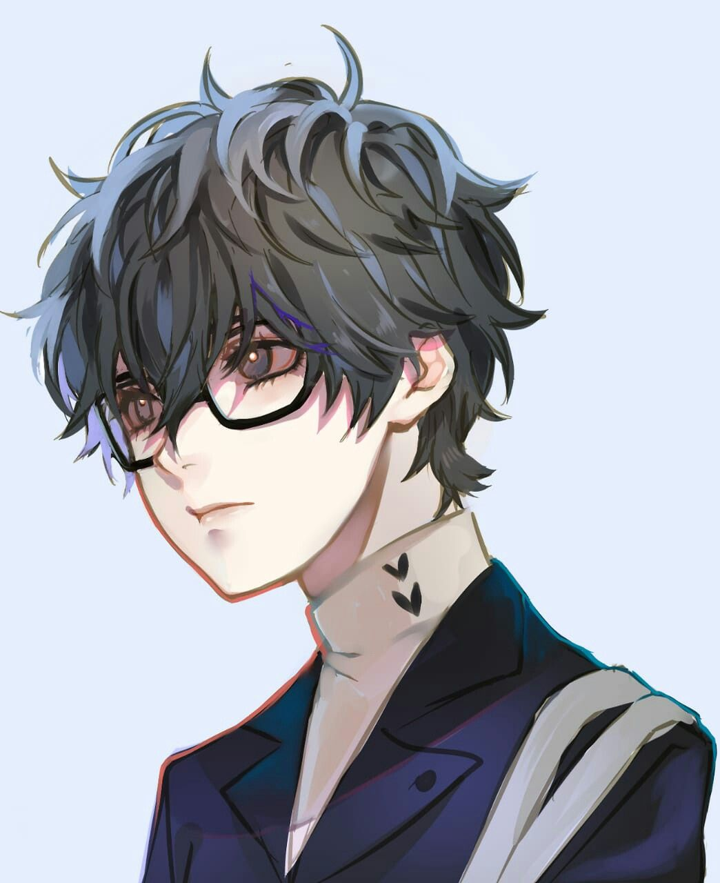 Pin By Soul On Anime People Anime Glasses Boy Persona 5 Joker Persona 5