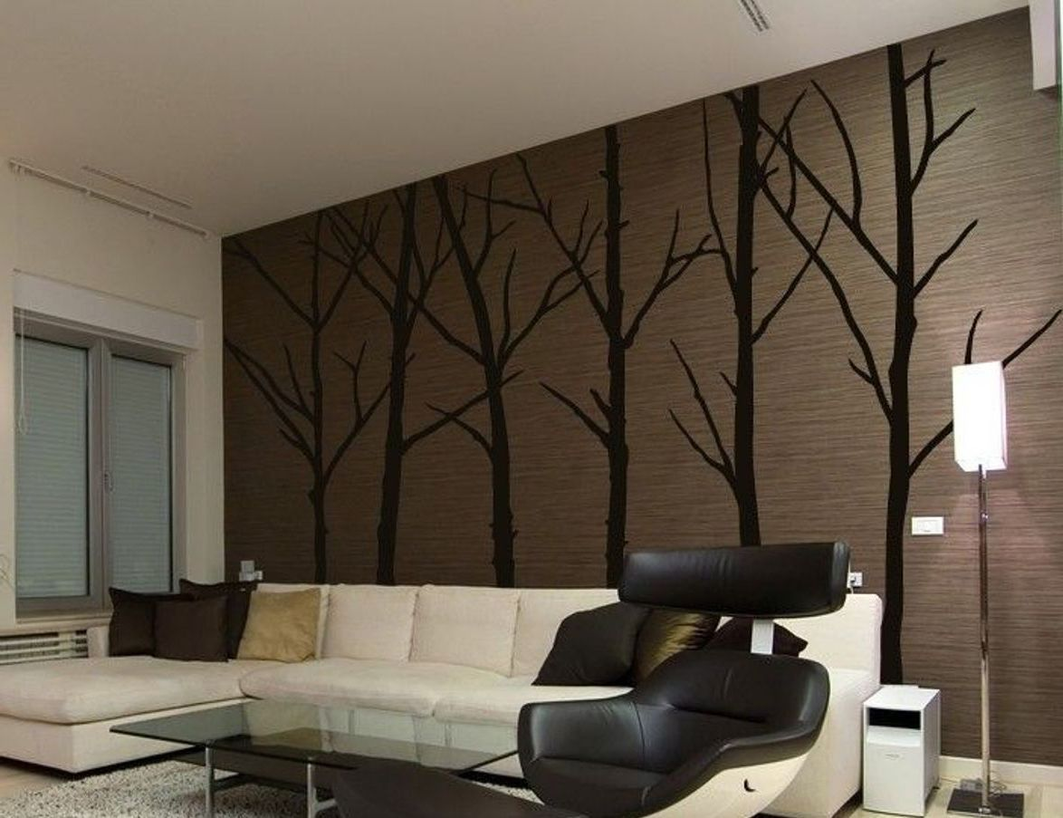 ... Large Wall Decals For Living Room Large Removable Living Room Bedroom  TV Backdrop Black Bamboo Mural