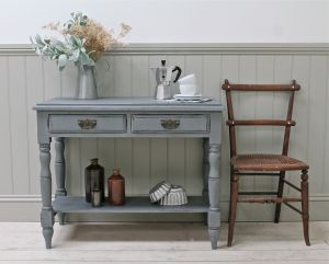 Distressed Victorian Pine Console Table. - For Sale | Distressed ...