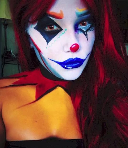10 Cute \u0027n\u0027 Creepy Clown Makeup Ideas for Halloween Clown makeup - clown ideas for halloween