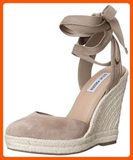 1c4adeca464 Steve Madden Women's Barre Espadrille Wedge Sandal, Taupe Suede, 8.5 ...
