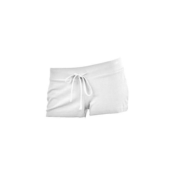 White Cotton Shorts ($9.99) ❤ liked on Polyvore featuring shorts, white cotton shorts, white shorts and cotton shorts