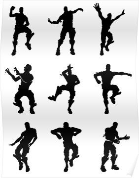 Fortnite Dances Small Poster Products In 2019 Dance