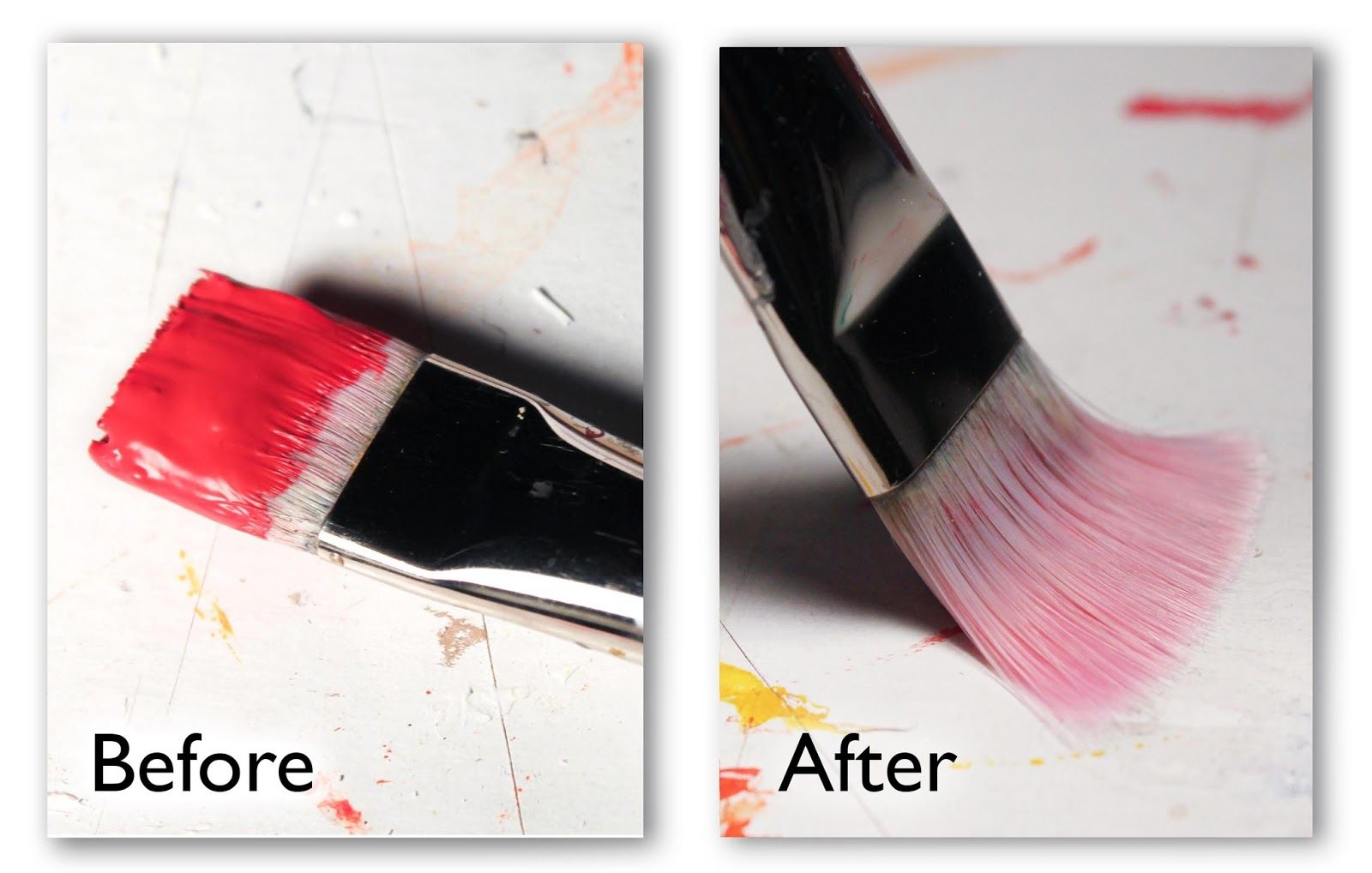 Chris breier how to clean dried acrylic paint from