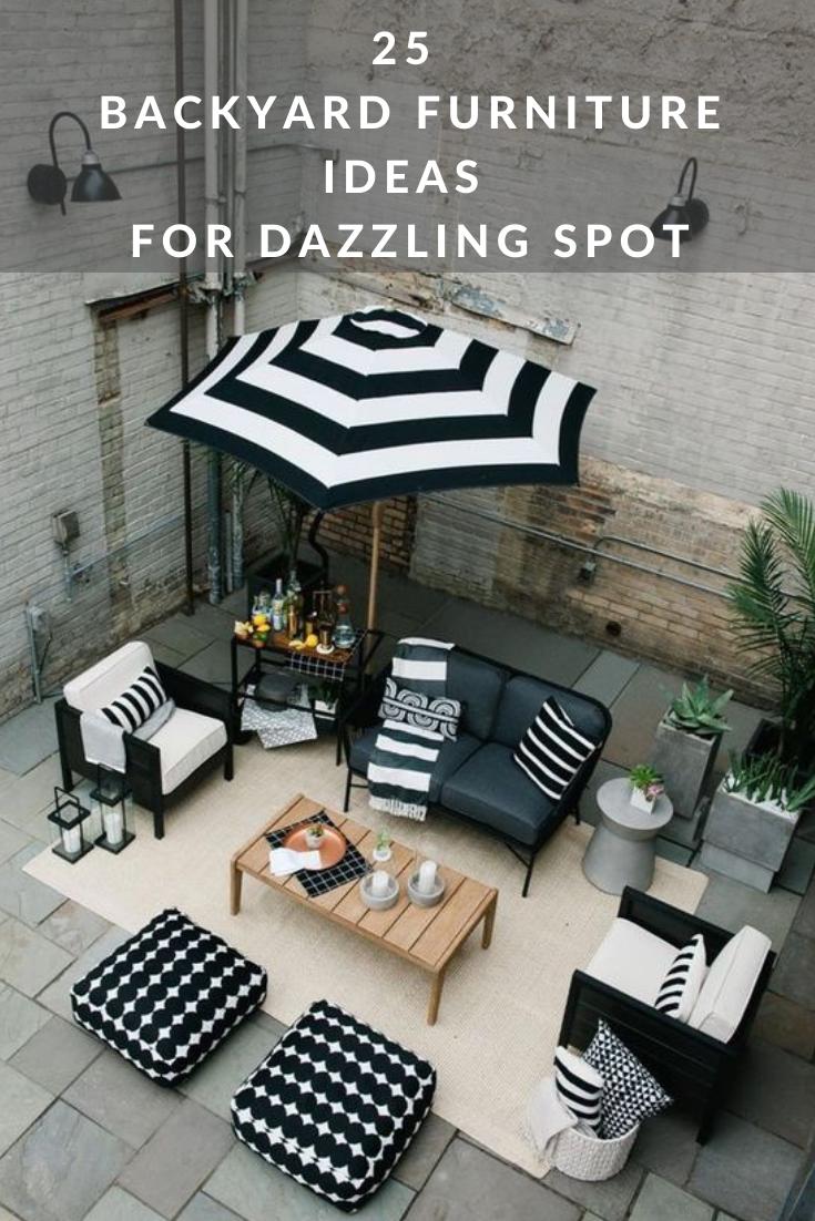 mesmerizing backyard furniture ideas