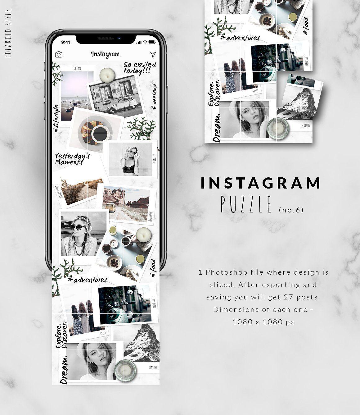 Instagram Puzzle Template Instantpic Instagram Feed Ideen