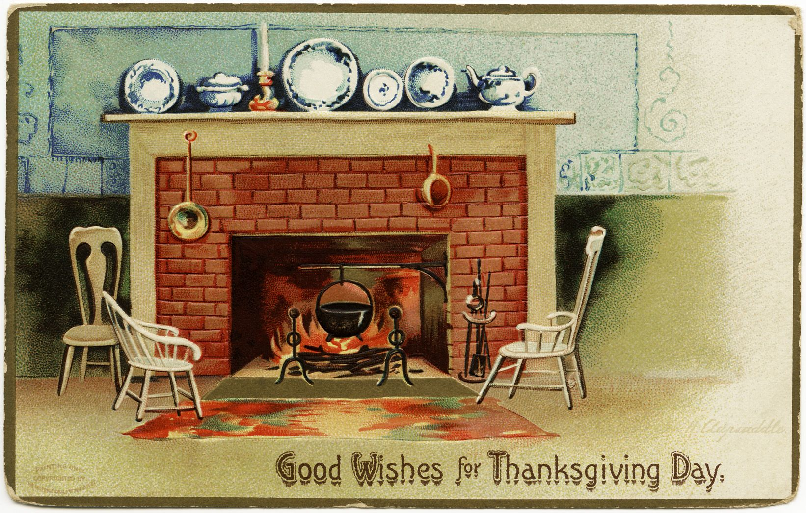 Old Design Shop ~ free digital image: vintage Clapsaddle Thanksgiving postcard