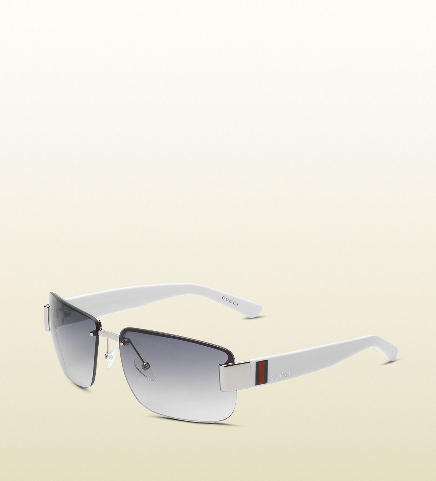 756e803a74b medium rimless sunglasses with gucci logo and signature web detail on  temple.