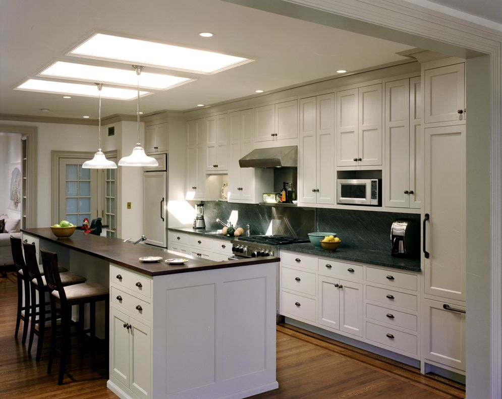 White Galley Kitchen With Island Galley Kitchens  Think This Is Similar To The Design I Want