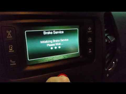 2014 2018 Jeep Cherokee Retract Parking Brake To Change Rear