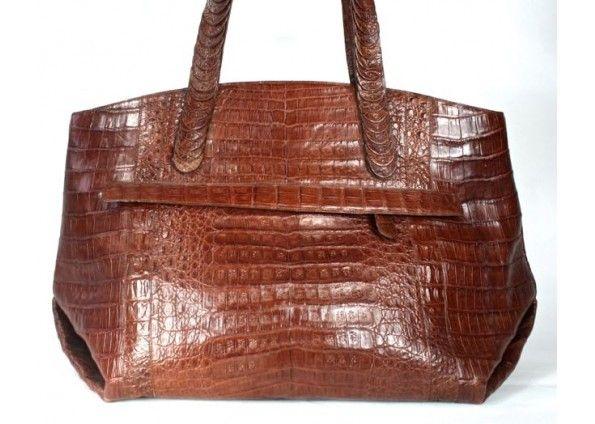Nancy Gonzalez Chocolate Brown Crocodile Clutch And Shoulder Bag 6OAkuab