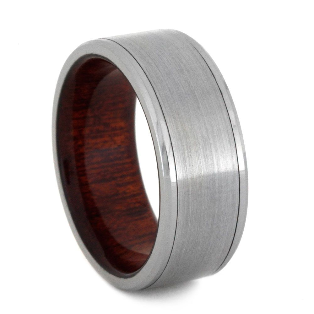 This Anium Wedding Band Features A Sleek Design With The Durability To Match
