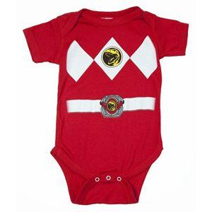 Infant Baby Mighty Morphin Power Rangers Black Ranger Costume Romper