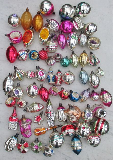 Antique Glass Christmas Ornaments Gorgeous Collection Ajeko