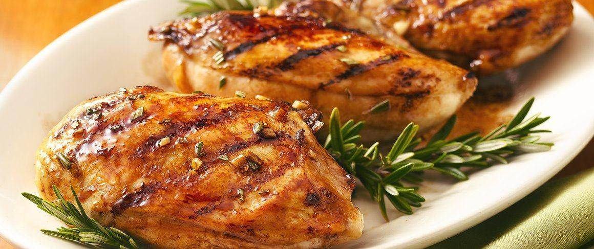 The secret to this shiny and golden-brown barbecued chicken? A simple, tangy glaze made with brown sugar.