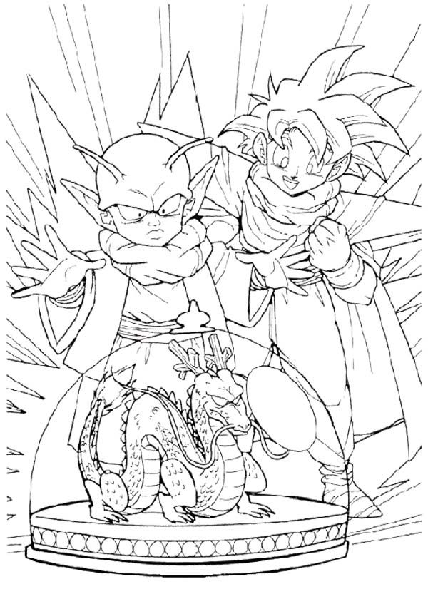 Little Goku And Piccolo Coloring Page Umm Excuse Me But Thats Gohan Dende