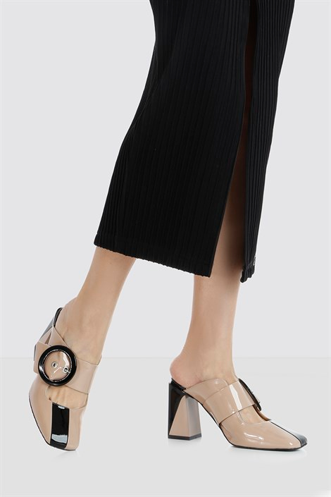 Mara Pudra Siyah Rugan Bayan Terlik Ilvi Siyah Rugan Terlik Oxford Heels