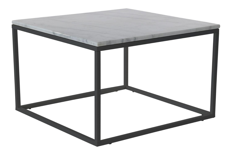 Accent Soffbord 75X75 Vit svart Marmor Chilli Soffbord Soffbord, Soffbord marmor och Vit