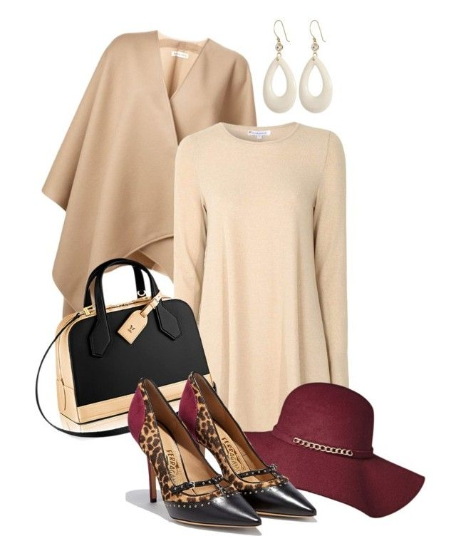 """Fall Dress"" by cerry71 ❤ liked on Polyvore featuring Burberry, Glamorous, Monique Péan and Salvatore Ferragamo"