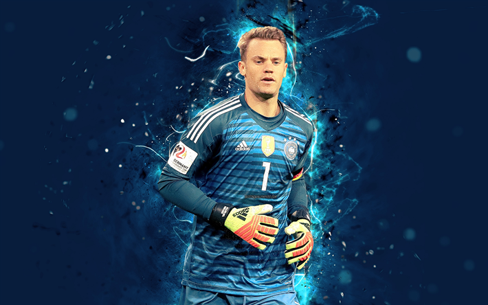 Download Wallpapers 4k Manuel Neuer Abstract Art Germany