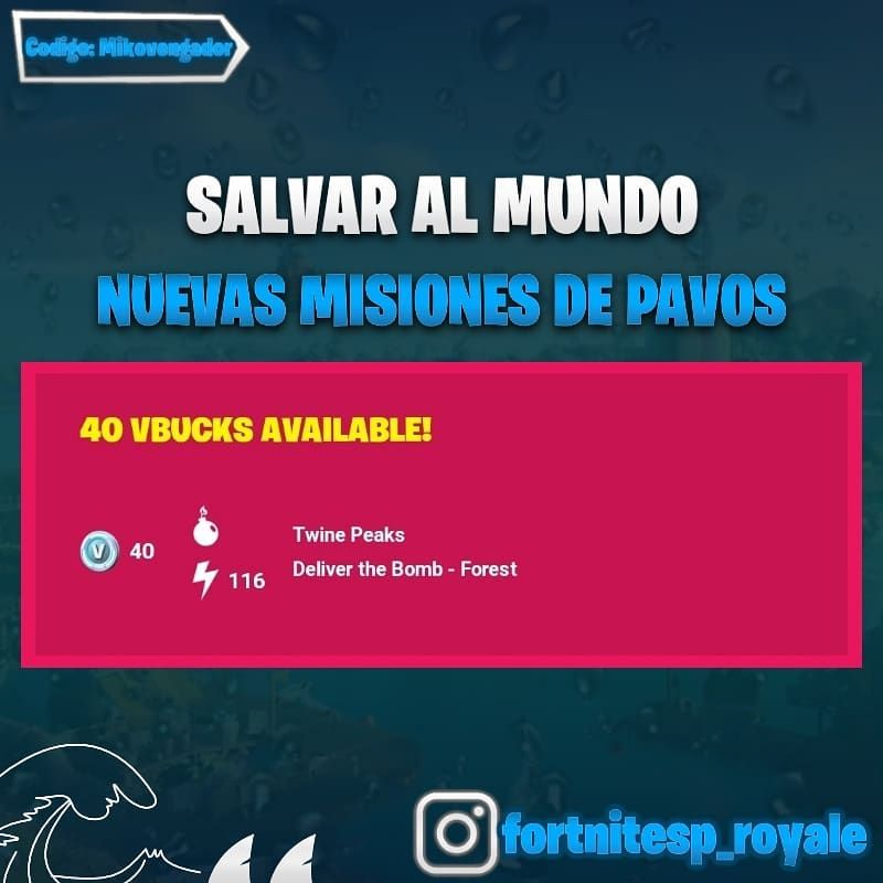 Fortnite V Bucks Free Salvar El Mundo Alertas De Hoy Misión De Pavos En Cumbres Leñosas 116 In Game Currency Pack Of Cards Fortnite