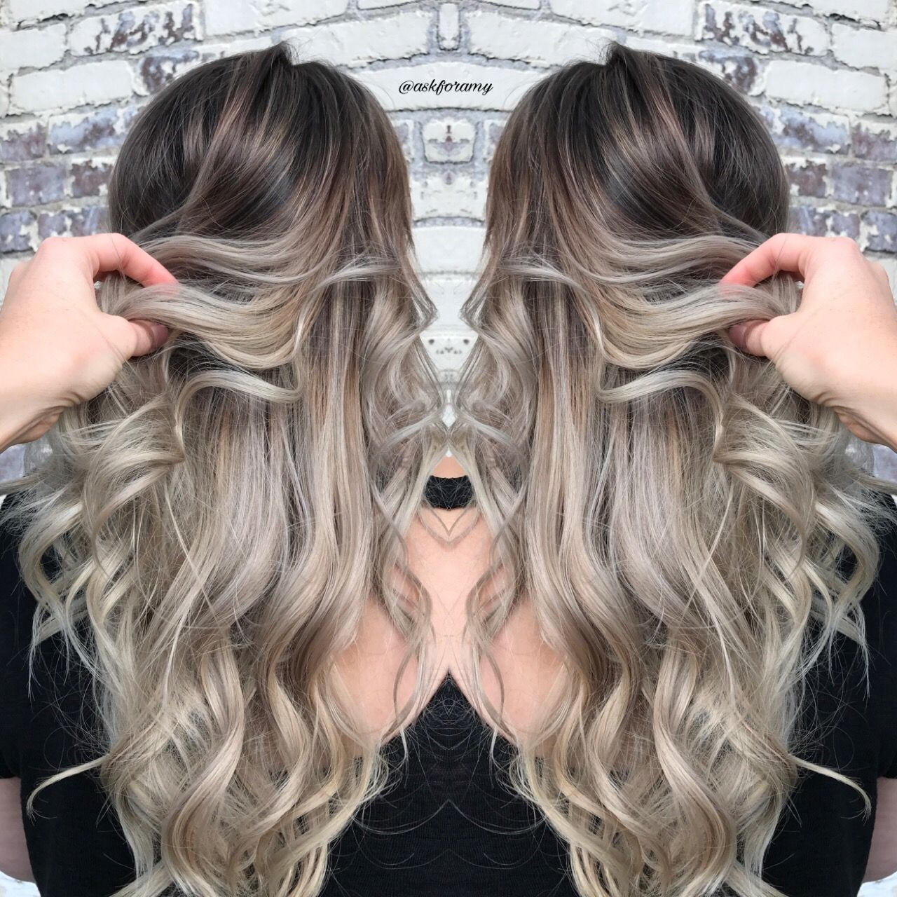 Ash Blonde Platinum Hair With Dark Roots By Askforamy Dark Roots Blonde Hair Light Ash Blonde Hair Ash Blonde Balayage Dark