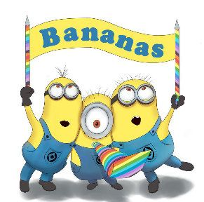 Bananas for Minions Counted Cross Stitch by SignatureStitchery