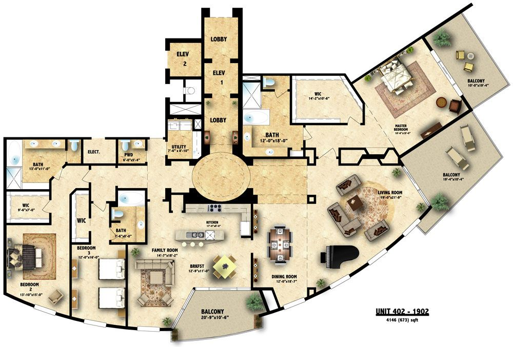 Plan Image 2: Colored Floor Plan