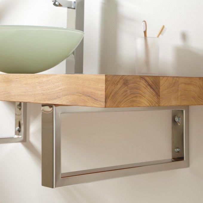 Vanity Top Support Brackets Rectangular Rectangular Vessel Sink Wall Mounted Vanity Bathroom Design